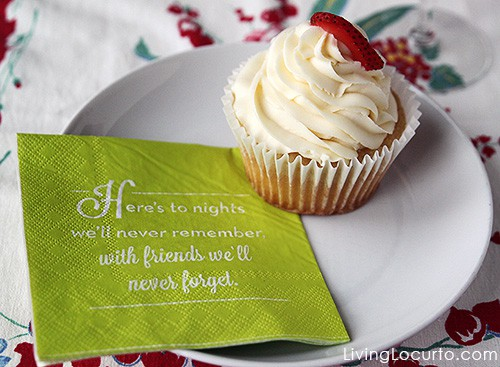 Funny Dessert Napkin - 5 Simple Tips for a Stress Free Dinner Party. LivingLocurto.com