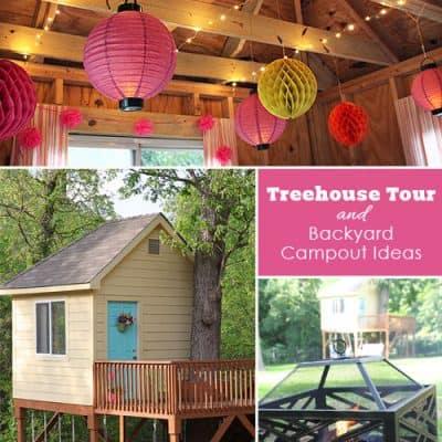 Tree House Tour & Backyard Party Ideas