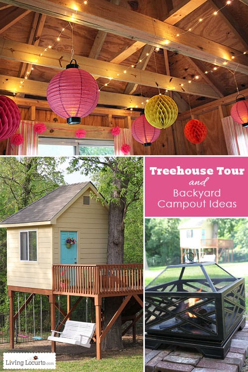 Tree House Tour and Backyard Campout Ideas. LivingLocurto.com