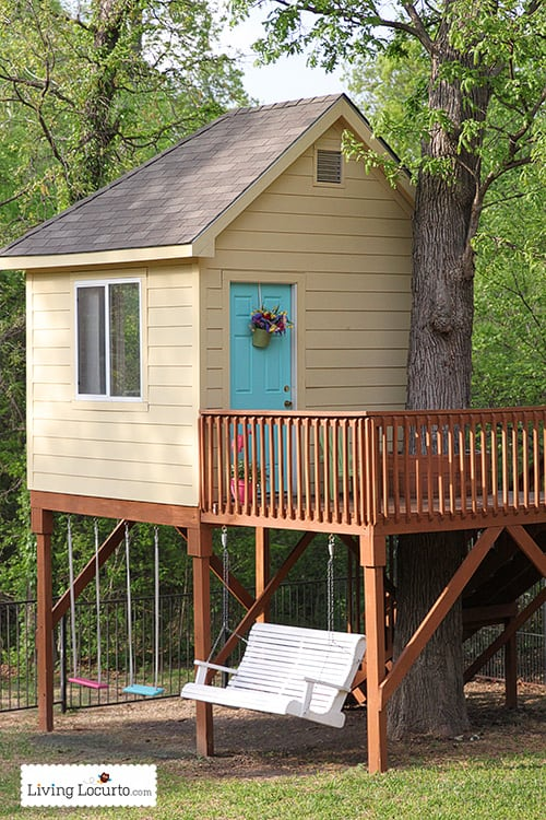 Tree house tour and backyard campout party ideas for Tree house blueprint maker