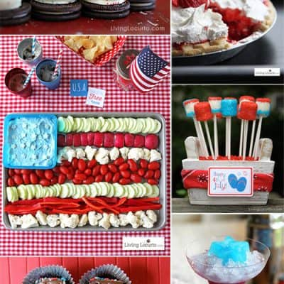 Red White and Blue   4th of July Party Recipes