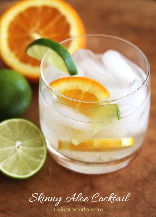 Skinny Aloe Cocktail Recipe. LivingLocurto.com