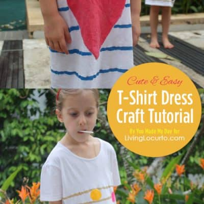 DIY T-Shirt Dress Craft Tutorial