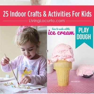 25 Indoor Crafts & Activities For Kids