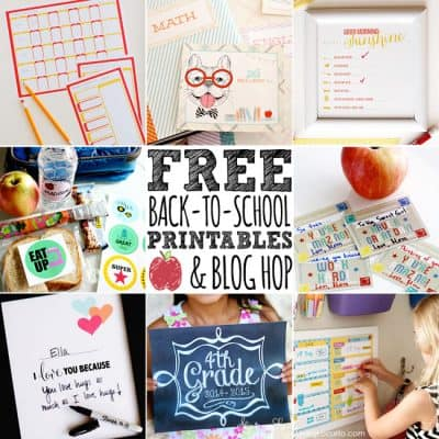 Free Printables Back to School Blog Hop