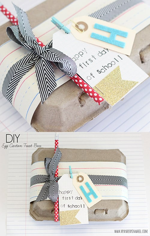 Teacher Gift Wrapping Idea. Cute Back to School Idea!