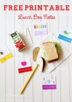 Free Printable Lunch Box Notes