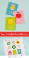 Free Printable School Stickers