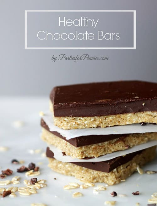 Easy chocolate protein bars are a perfect healthy snack. This gluten free recipe is packed with protein and calcium!