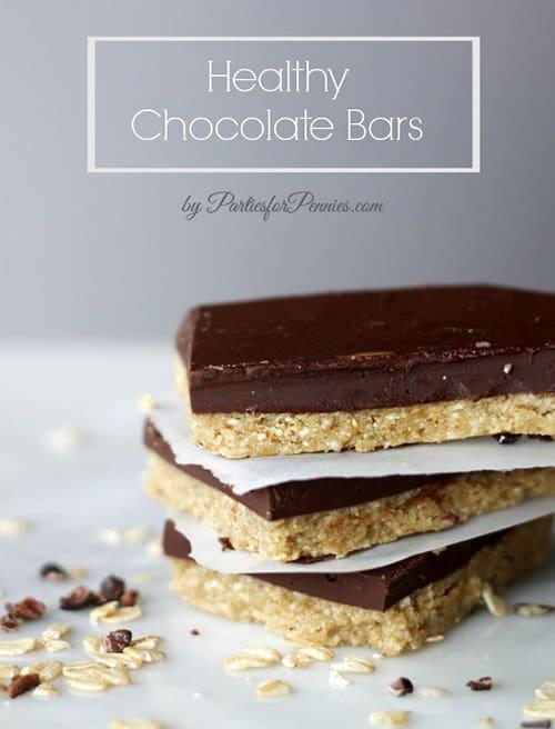 Homemade No Bake Healthy Chocolate Protein Bars. Easy Gluten Free Recipe.