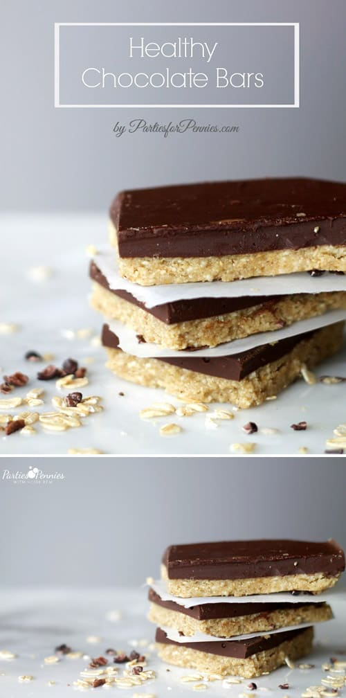 Super easy homemade No Bake Healthy Chocolate Protein Bars recipe! Gluten Free and so good!
