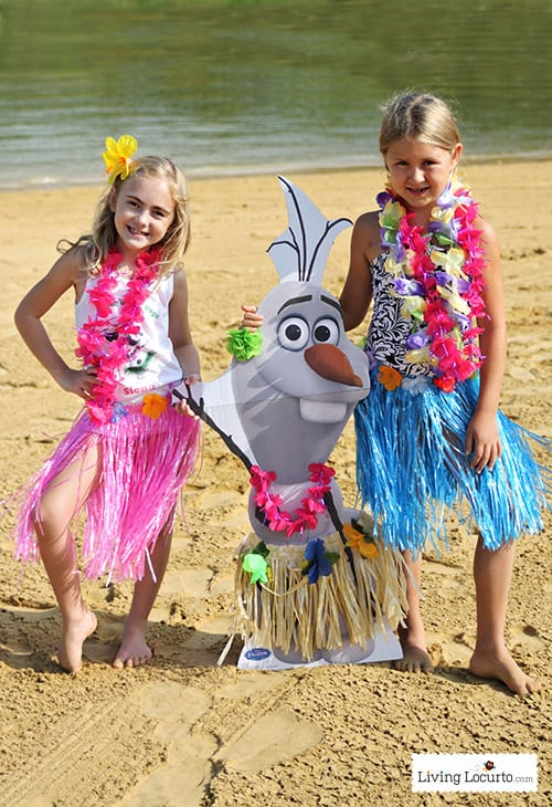 Frozen in Summer Birthday Party - Olaf Free Printable T-Shirt Design and Life size Olaf. LivingLocurto.com