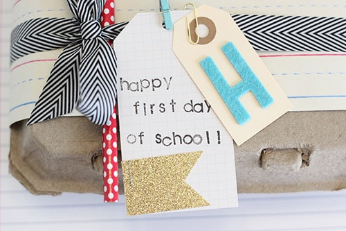Teacher Gift Wrapping Idea. Cute Back to School Idea!