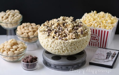 A Popcorn Bowl You Can Eat! Fun Food Idea by Hungry Happenings.