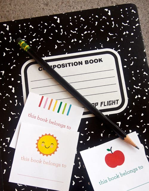 Free Printable School Stickers. Back to School tags by Paper Crave.