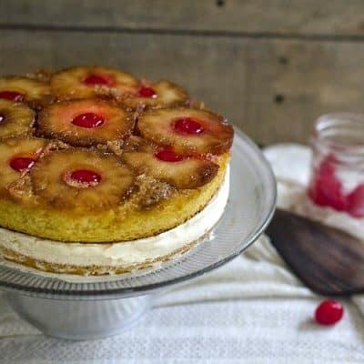Pineapple Upside Down Ice Cream Cake Recipe