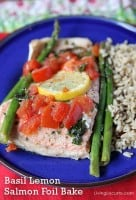Basil Lemon Salmon Foil Bake