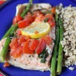 Basil Lemon Salmon Baked in Foil