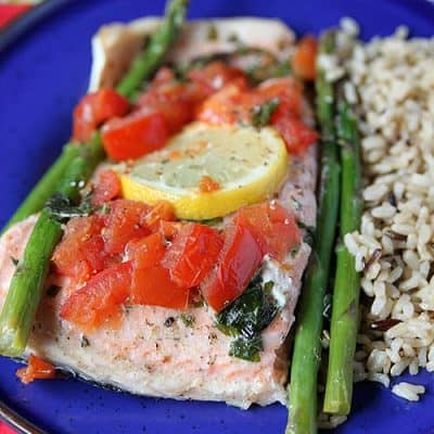 Lemon Basil Salmon Foil Bake (VIDEO)