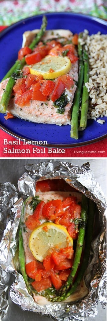 Basil Lemon Salmon Foil Bake - Fast and Easy Dinner Recipe ...