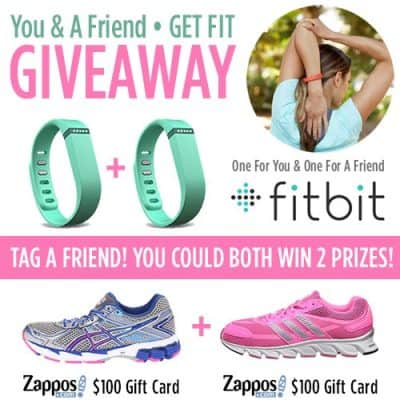 Get Fit with a Friend! Fitbit Flex and Zappos Giveaway {$420 Value}