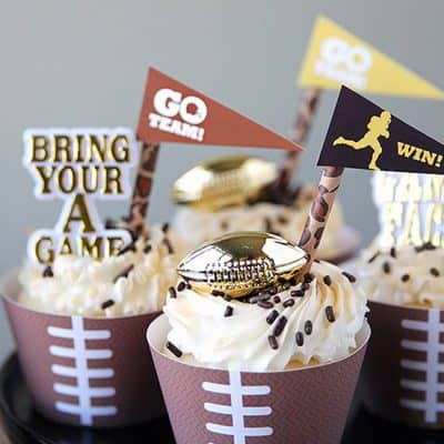 Posh Football Party Ideas | Free Printables