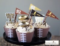Free Party Printable Football Cupcake Wrappers