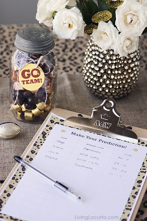 Free Printable Football Game - Posh Football Party Ideas and Free Printables. LivingLocurto.com