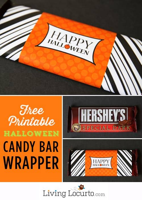 Free Printable Halloween Candy Bar Wrappers. LivingLocurto.com