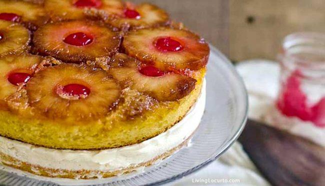 Easy Pineapple Upside Down Cake recipe turned into an ice cream cake.