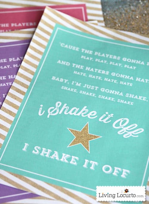 Shake It Off Free Printable Poster - Taylor Swift Fans will love it! LivingLocurto.com