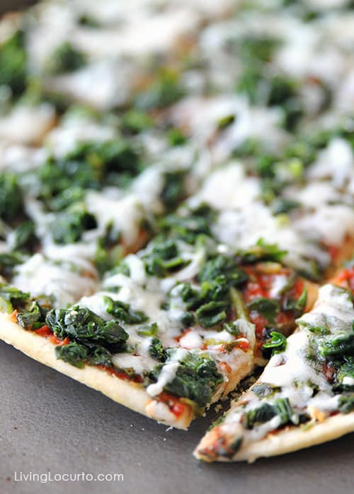 Spinach Ristorante Pizza - Posh Football Party Ideas and Free Printables. LivingLocurto.com