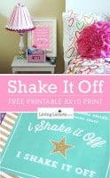 Shake It Off Free Printable Poster