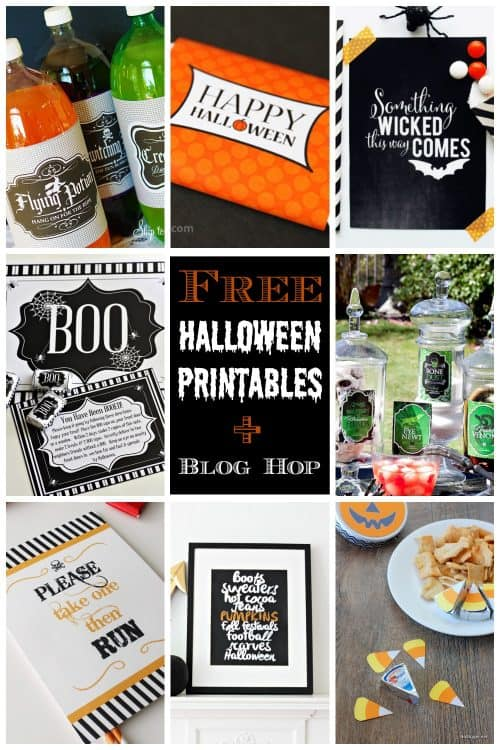 8 Free Printable Halloween Party Ideas | Blog Hop