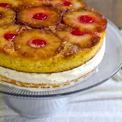 Pineapple Upside Down Ice Cream Cake
