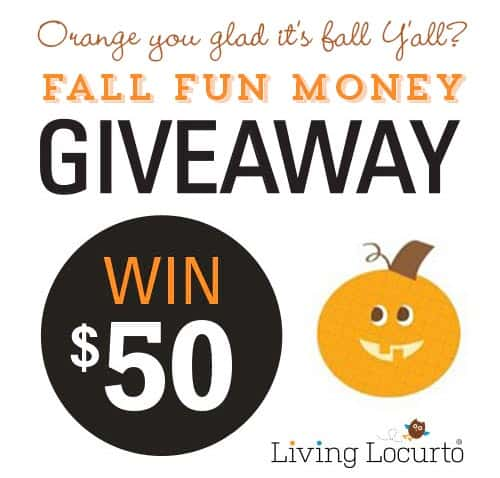 Celebrate Fall with a Fun Money Giveaway! Enter at LivingLocurto.com