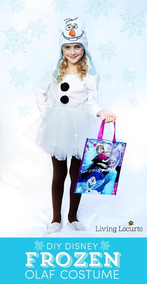 DIY Disney Frozen Olaf Halloween Costume. - Cute Halloween Costumes! Over 25 of the Best DIY Halloween Ideas to inspire you on Trick or Treat night!