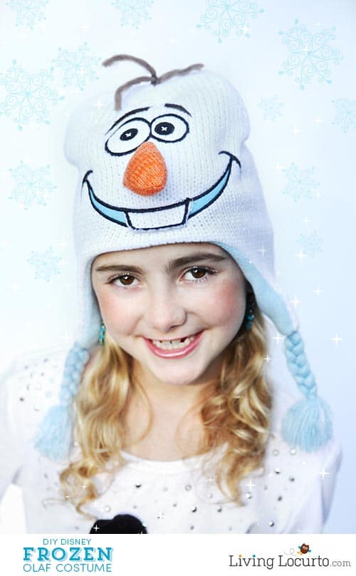 DIY Disney Frozen Olaf Halloween Costume. Super cute and easy! LivingLocurto.com