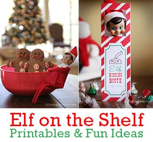 Elf on the Shelf Printables and Fun Ideas for kids at Christmas! LivingLocurto.com