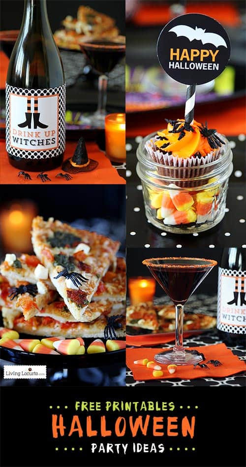 Simple Halloween Party Ideas with fun Free Printables! LivingLocurto.com