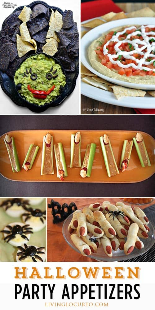 Spooky and fun Halloween Appetizer Recipes! These savory treats will creep out your party guests while also putting a smile on their faces.