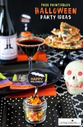 Halloween Party Ideas & Free Printable Wine Labels