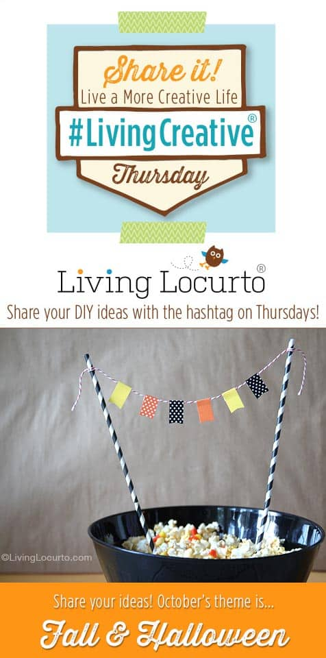 Share your Creative Ideas to the Fall & Halloween Living Creative Thursday Link Party!  LivingLocurto.com