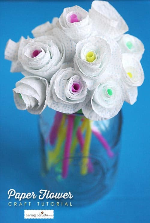 Paper flower craft how to add color to your home paper flower craft tutorial how to add color to your home livinglocurto mightylinksfo