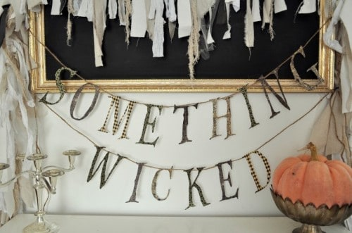 Something Wicked Free Printable Halloween Garland