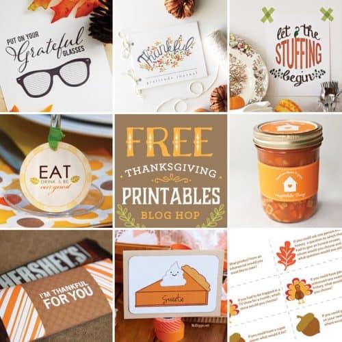 8 Pretty Thanksgiving Free Printable designs to get you into the fall spirit! LivingLocurto.com