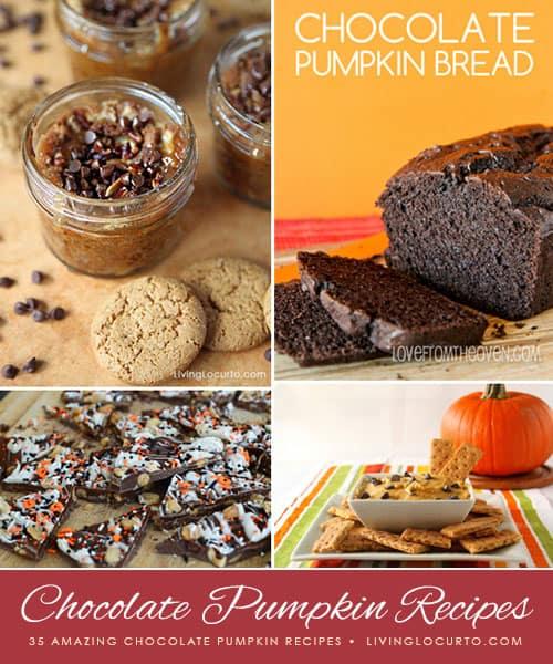 35 Amazing Chocolate Pumpkin Recipes! LivingLocurto.com
