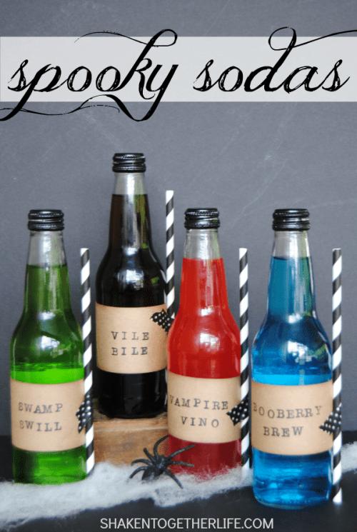 DIY Halloween Soda Bottle Labels