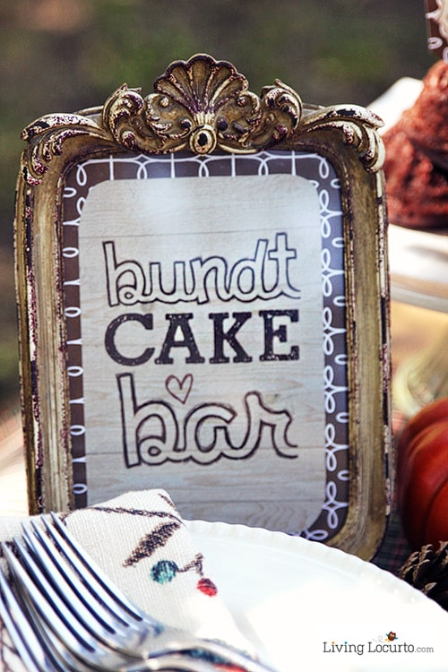 Decorate Your Own Bundt Cake Bar Free Party Printables