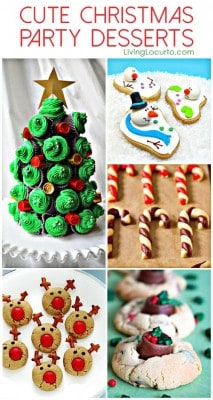 Cute Christmas Party Dessert Ideas. Adorable recipe ideas!